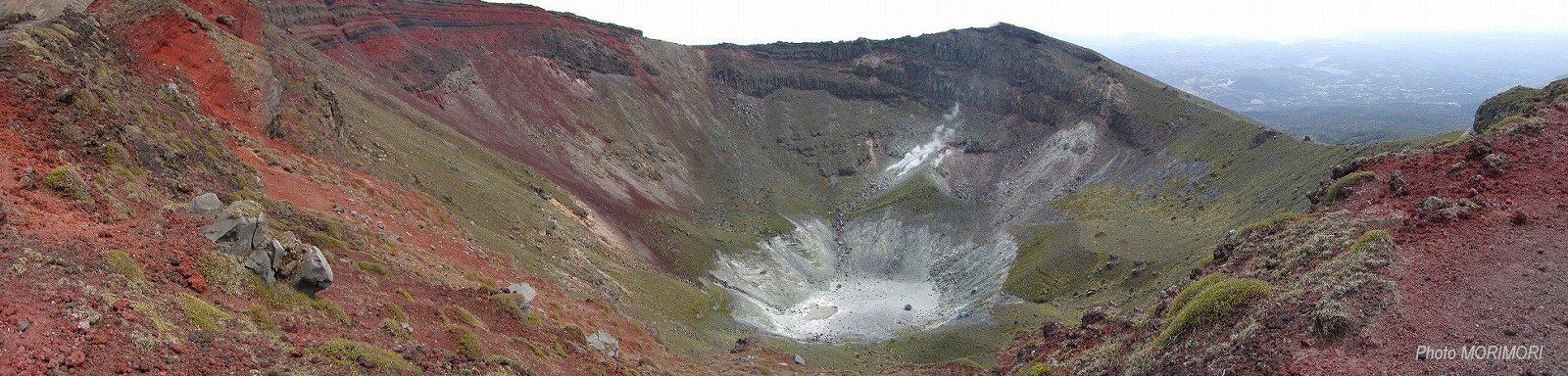 高千穂の峰 御鉢 パノラマ写真
